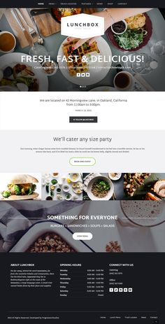 Design Lunchbox - Food Truck & Restaurant Theme Common-Sense Ways to Keep Kids Away From Website Design Inspiration, Web Design Blog, Food Web Design, Food Truck Design, Website Design Layout, Menu Design, Website Designs, Web Layout, Design Design