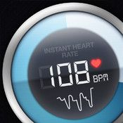 Instant Heart Rate - Heart Rate Monitor by Azumio : Place your finger over the LED camera, and in 10 seconds you'll know how fast your heart is beating — no external hardware needed, as the camera actually watches your blood pulsing.  Apple App Store. $1.99