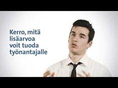 Katso Suomen Ekonomien videosta kuinka valmistaudut työhaastatteluun. Katso lisävinkit: www.ekonomit.fi
