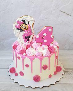 Mini Mouse Birthday Cake, Minnie Mouse Birthday Theme, Mickey Mouse Cake, Minnie Mouse Party, Birthday Cake Girls, Toddler Birthday Themes, Bolo Minnie, Balloon Cake, Hello Kitty Birthday