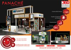 Panache Exhibitions has a talented creative design team that has created modern exhibition stall designs and original creative stall designs. This is why Panache Exhibitions is recognized as a leading creative exhibition stall designer.