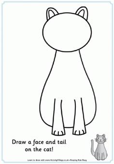 """Lots of """"complete the picture"""" free printables. Can use for play dough mats."""