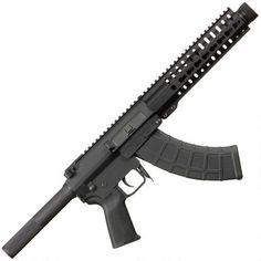 "CMMG MK47 Mutant AKS8 Semi Auto Pistol 7.62x39mm 8"" Barrel with Krink Muzzle Device 30 Rounds 9"" RKM Key-Mod Handguard Full Length Picatinny Top Rail Black Nitride Finish 76AE87C"