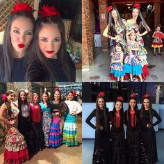Bailaoras del fin de semana. Las Morochas más flamenkkas!💃🏼👯👏🏻✨ @danielavargas6 @gabi_vargass #condoblekyolé