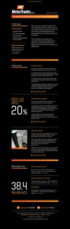Motor Trades Email Newsletter | www.rubbercheese.com