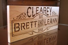 Family Sign Anniverary Gift Name Sign by BenchMarkCustomSigns, $47.95