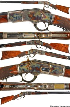 We specialize in Winchester Antique Firearms made by the Winchester Repeating Arms Co. We have the largest inventory of antique lever-action Winchester Rifles and Carbines in the world. Cowboy Action Shooting, Lever Action Rifles, Gun Art, Hunting Rifles, Hog Hunting, Firearms, Shotguns, Cool Guns, Le Far West