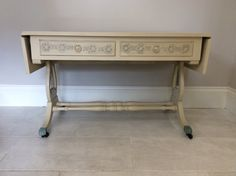 Bespoke Cream hand painted coffee table / console table / end