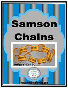 This is the updated set of Samson Chain printables that was listed and removed. This set of chains are black and white only to save ink. I print on color paper and staple the ends together to create the chain. Directions are included if you are not sure how to make the chain.You can find this, the lessons, visuals, worksheets, ideas and more printables for Samson on my blog at:Samson Part 1: Samson Part 1 at Bible Fun For Kids.Samson Part 2: Samson Part 2 at Bible Fun For Kids.#Biblefun