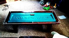 82 caddy tailgate coffee table finished!!! All reclaimed items