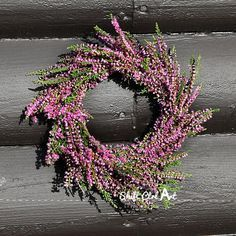 Heather wreath - and how to make your own wreath form