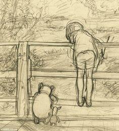 사라진 것으로 알려졌던 위니 더 푸의 초기 스케치가 무려 87년만에 발견되었다고. 삽화가인 E.H Shepard의 부인이 친구에게 주었던 스케치.