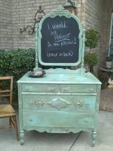 Hm...not the painted wood, but the chalkboard. more likely than having my vanity mirror replaced...