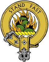 """Grant Family Crest, w/ """"family motto"""" A Nottinghamshire land-owner named Le Grand obtained land in Strathspey in the 13th century, founding the powerful clan which spread over Strathspey and the Grampian mountains into Aberdeenshire. The Grants Clan supported Robert the Bruce in the 14th century and John and Randolph de Grant were captured at the Battle of Dunbar in 1296. The first authenticated chief of the Highland clan was Sir Ian Grant who was Sheriff of Inverness in 1434."""