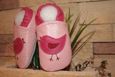 Krabbelpuschen Lederpuschen baby Schuhe Gr. 21/22 von MooMoo-krabbelschuhe auf DaWanda.com