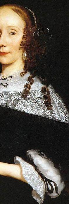 Portrait d'une femme, 1666-67 Nicolaes Maes Détail