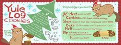 Yule Log Cookies by Kaitlyn McCane #recipe #illustration