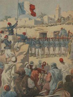 Le drapeau français flotte sur Tombouctou Le Petit Journal 1894  Back again in 2014
