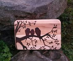 Decorative Wood Burned Cutting Board by Chelseyswoodburning I have this! It's gorgeous!