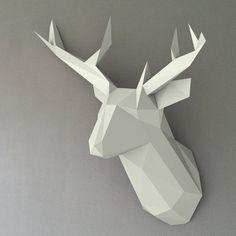DIY Mounted paper Deer head low poly papercraft par DearestBambi