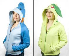 pokemon shirts | Gotta catch 'em…both: Custom Chikorita and Mudkip hoodies – The ...