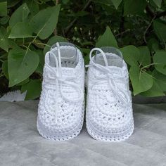 Baby Blessing Shoes, Baptism Shoes, Christening Shoes, Boy Shoes, Baby Boy Shoes, Crochet Blessing Booties, Crochet Baptism Shoes, Nursery. These crochet all white boy shoes are perfect for a Baby Blessing, Christening, or Baptism. The 100 percent cotton, very light and breathable