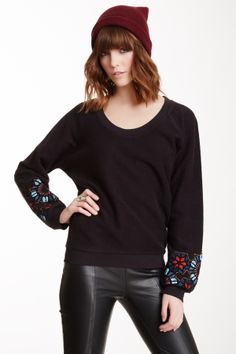 Titan Embellished Cuff Pullover