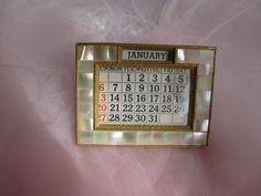 mother of pearl desk calendar