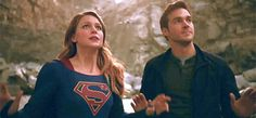 """This planet sucks."" Lol, I love Kara and Mon-El together. Melissa Benoist and Chris Wood are legit funny AND cute together...it's like a superpowered buddy-cop (but with sexual tension!!!) thang, and I <3 it :D (gif by seasaltkaramel on tumblr) 
