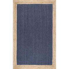 nuLOOM Eleonora Hand-Woven Blue Area Rug
