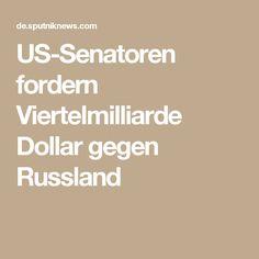 US-Senatoren fordern Viertelmilliarde Dollar gegen Russland