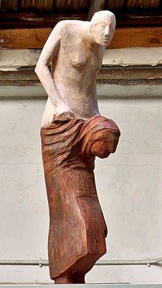 Francisco Leiro Modern Sculpture, Wood Sculpture, Giza, Weird Art, Clay Art, Wood Carvings, Funny Posts, Statues, Photography