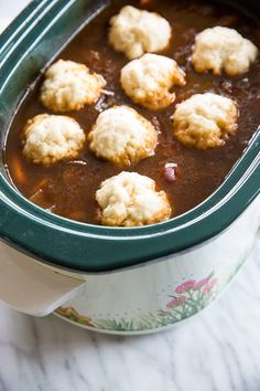 How to Make Slowcooker or Crockpot Dumplings - The Kitchen Magpie