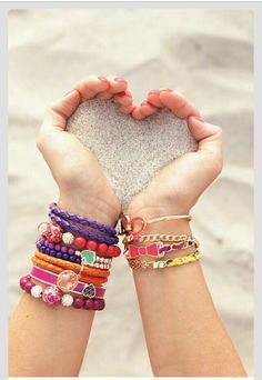Colorful beads, charm and pendant bracelet accessories Love this for summer - Kreative fotografie - Schmuck