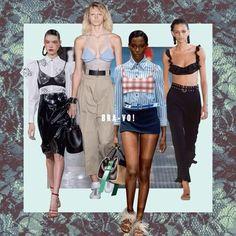 #ELLEtalk 2017 S/S #트렌드 아이디어 두번째 아이템은 런웨이를 휩쓴 #브라렛! #알렉산더왕 룩처럼 과감하게 연출하거나 #프라다 컬렉션처럼 근사하게 레이어드 해보세요 via ELLE KOREA MAGAZINE OFFICIAL INSTAGRAM - Fashion Campaigns Haute Couture Advertising Editorial Photography Magazine Cover Designs Supermodels Runway Models