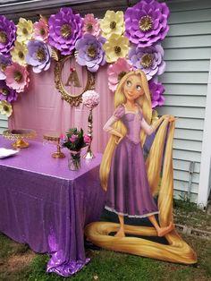 Rapunzel Birthday Cake, Tangled Birthday Party, Disney Princess Birthday Party, Birthday Parties, 4th Birthday, Princess Party Decorations, Birthday Party Decorations, Tangled Wedding, Birthday Backdrop