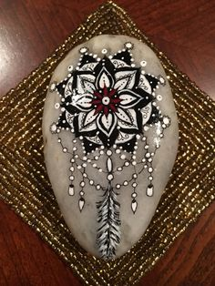 Hand painted stone Dreamcatcher stone stone by EmmysHeartsnCrafts