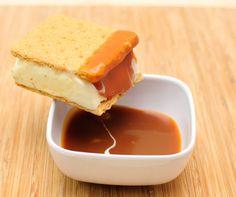 Triple Scoop Desserts: Salted Carmel Cheesecake Ice Cream Sandwich