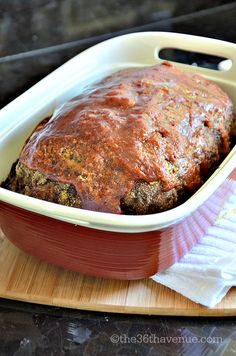 Recipes : Super easy and delicious Meat Loaf Recipe at the36thavenue.com