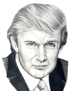 Image result for donald trump sketch