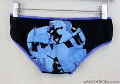Extra Small  Ninja Fighting  Low Rise Panties by xannabotx on Etsy, $12.00