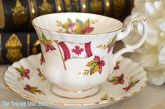 Royal Albert Teacup and Saucer Canada From Sea by TheTeacupAttic