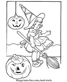 Cute Halloween Witch Costume - Halloween Costume Coloring Pages