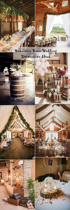 romantic rustic barn wedding decoration ideas