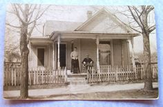 vintage porch photos | Couple on Porch of Country House ...Vintage Photograph...Sepia Tone ...