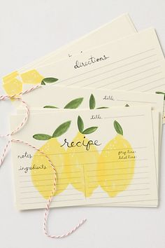 lovely recipe cards.  $14, from anthropologie.