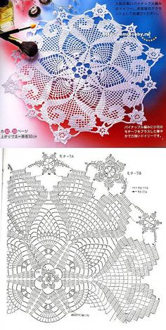 See More Pattern For Crochet Free Crochet Doily Patterns, Crochet Doily Diagram, Crochet Circles, Crochet Mandala, Crochet Art, Thread Crochet, Crochet Motif, Vintage Crochet, Crochet Designs