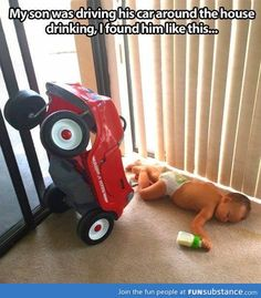Baby caught drink driving