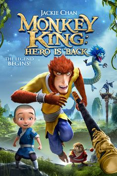 Monkey King: Hero Is Back Movie Poster - Jackie Chan, Kannon Kurowsk, Roger Craig Smith  #MonkeyKing, #HeroIsBack, #JackieChan, #KannonKurowsk, #RogerCraigSmith, #TianXiaopeng, #ActionAdventure, #Art, #Film, #Movie, #Poster