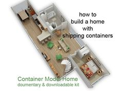 how to build a home with shipping containers.Build yourself a Shipping Container Home - Documentary & Kit by Kevin Louis Building A Container Home, Storage Container Homes, Container Buildings, Container Architecture, Cargo Container, Container Design, Shipping Container Homes, Shipping Containers, Container Pool